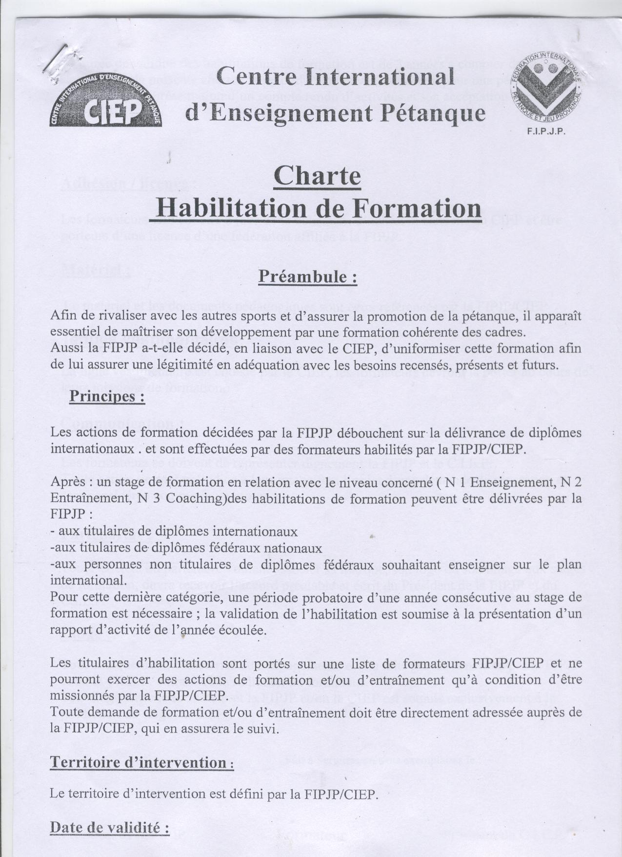 charte 1